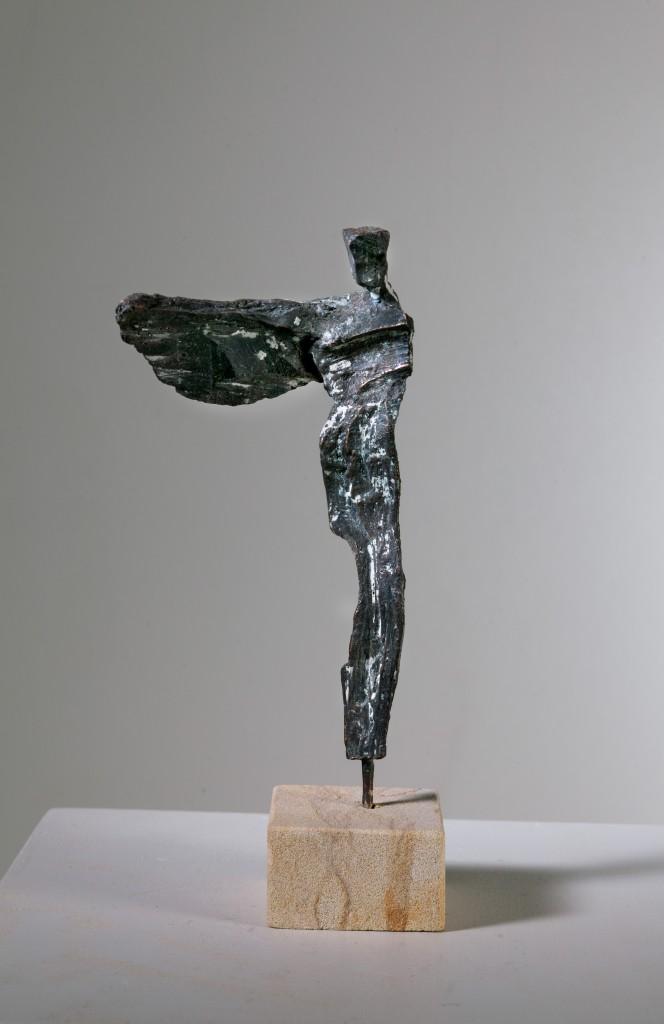 Vor dem Abflug - Bronze - Hans-Georg Wagner